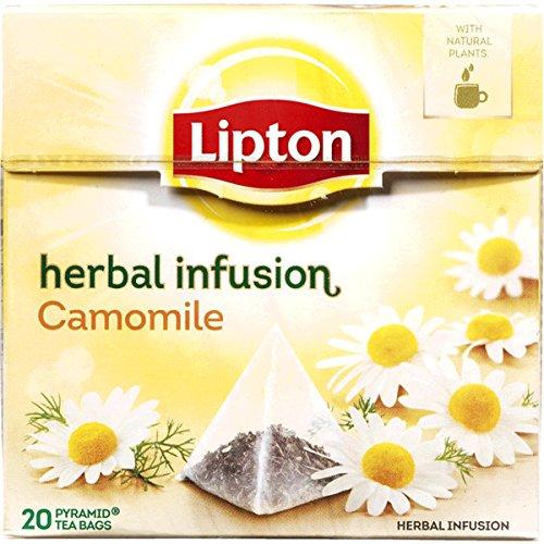 Lipton CAMOMILE (Camomilla) busta (piramide) tè confezione da 20 x 6 scatole - Lipton Bustine Di Tè