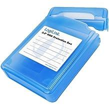 """LogiLink UA0133 - Funda de protección para disco duro de 3.5"""", azul"""