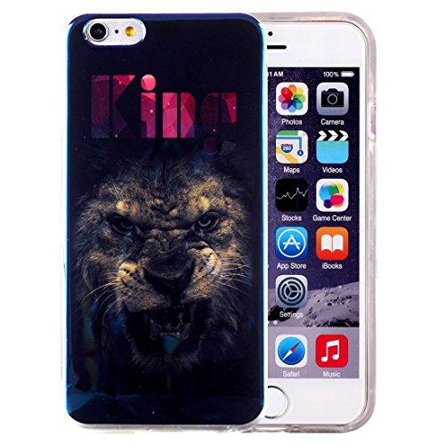 Wkae Case & Cover Pour iPhone 6 Plus &6s plus IMD Colorful Flowers Motif Blu ray-étui de protection TPU souple ( SKU : IP6P5000K ) IP6P5000F
