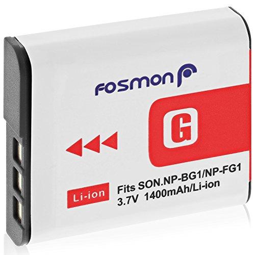 Fosmon 3.7V / 1400 mAh Sony NP-FG1 / NP-BG1 Akku Ersatz Li-Ion Batterie für Sony Cyber-Shot W Series Kamera DSC-W120, W110, W115, W130, W150, W170, W210, W300, DSC-T100, DSC-T20, DSC-N1, N2, H50 Cybershot-kamera