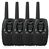 FLOUREON 4X PMR Funkger�t Walkie Talkies 8 Kan�le Walki Talki 2-Wege Radio mit LC-Display Schwarz Bild