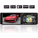 AUDEW 12V Voiture Autoradio 1 DIN Stéréo Bluetooth 4.1'' HD In-Dash MP3/MP5 AUX USB FM