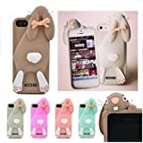 New Grey Moschino Rabbit/ Cute 3D Silicone Back Cover Case For Apple iPhone 5/5S/5C