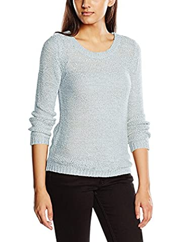 ONLY onlGEENA XO L/S PULLOVER KNT NOOS, Pull Femme, Bleu (Cashmere Blue), 38 (Taille fabricant: Medium)