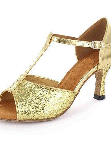 La mode moderne Sandales femmes personnalisables Chaussures de danse en similicuir similicuir sandales talon d'Amérique latine sur mesure de performance professionnelle débutant pratique US9.5-10/EU41/UK7.5-8/CN42