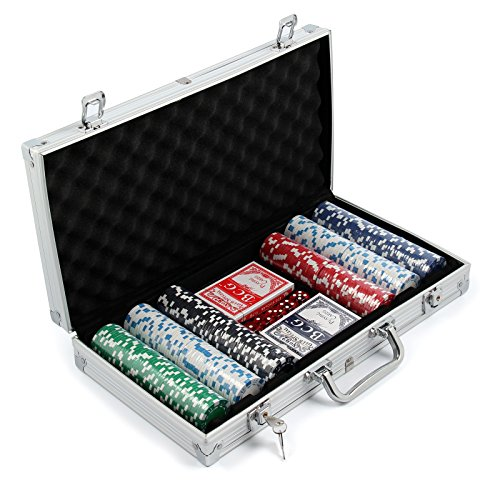 AllRight 300 Pcs Poker Chips Set Game Poker Casino Poker Set In Aluminium Case