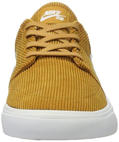 Nike Portmore Cnvs Premium, Scarpe da Skateboard Uomo Marrone (Desert Ochre/white)