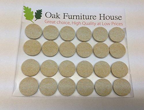 24-oak-furniture-self-adhesive-felt-pads-wood-floor-protectors-20mm
