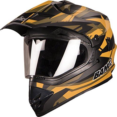Steel bird Helmet Motocross SB-42 bang Mat Black with yellow