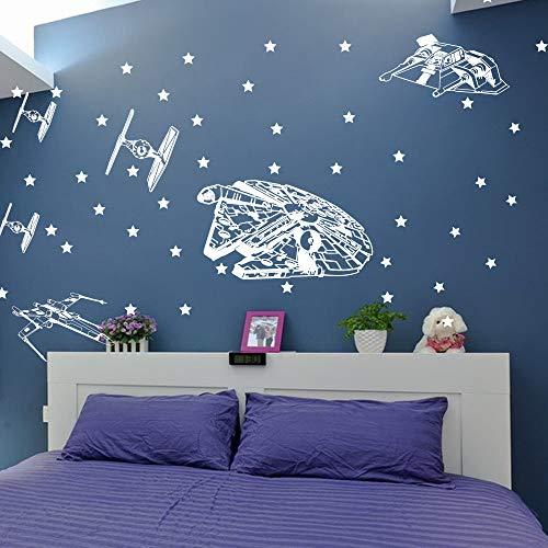 Star Wars Spacecraft Ship Wall Sticker Camera da letto del ragazzo Camera  Star Wars Starfighters Star Wall Decal Camera dei bambini Living Vinyl
