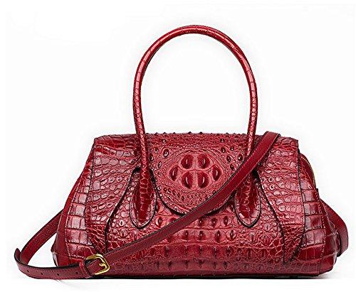 Sacs à main pour femme Xinmaoyuan occasionnels cuir sac à main Sac Boulette National rétro Paquet croix oblique Sacs manuel Red