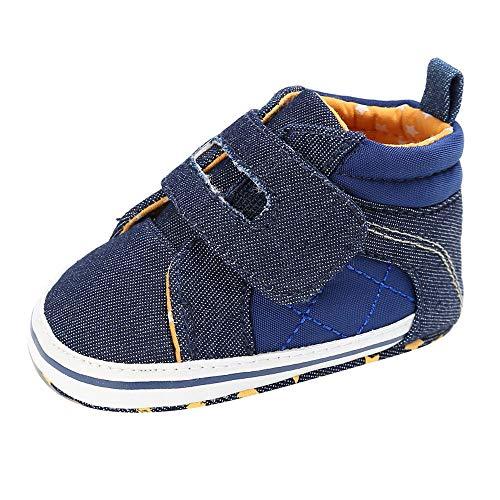 8167c810b1561 Moonuy Bébé Toddler Boys Denim Chaussures de Berceau Mignonnes Chaussures  antidérapantes Prewalker à Infantile Semelle Souple