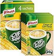 Knorr Cup-A-Soup Cream of Corn - 20 gm (Pack of 4)