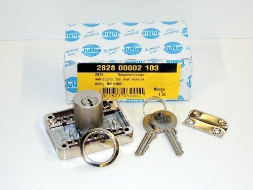 Schrankschloß 2828 mit Zylinder matt vernickelt BN 104