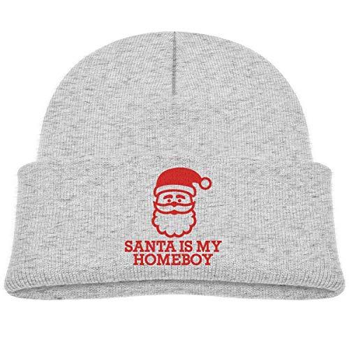 UUOnly Santa ist mein Homeboy Beanie Cap Strickmütze Baby Girls - Homeboy Cap