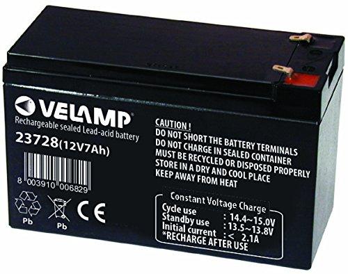 Velamp Batterie au Plomb 12 V 7 AH 2,02 kg