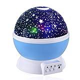 Proyector de Estrellas,Weili luz del proyector 360 Grados romántica Cosmos Luna de...