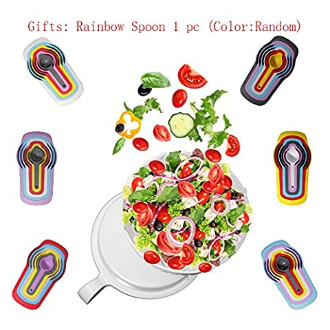 Lazy most beloved tool,Enjoy a nutritious and delicious salad Make your salad in 1 minute 60 second salad.Gifts: Rainbow Spoon 1 PC (Color:Random)