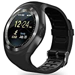 Bluetooth Smart Watch Zkcreation Smart Watch Classic IPS Round Touch Screen Waterproof Smartphone With SIM Card Fitness Tracker Pedometer Compatible With Android Phone And IOS Black