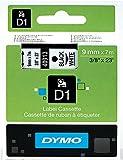 Dymo S0720680 D1 Etiketten (9 mm x 7 m Rolle, Selbstklebend, für den Drucker LabelManager) schwarze Schrift auf weiß