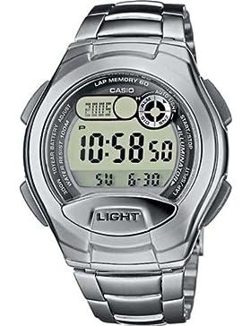 Casio Collection – Unisex-Armbanduhr mit Digital-Display und Edelstahlarmband – W-752D-1AVES