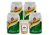 #10: Schweppes Ginger Ale Can (Imported), 300ml - Pack of 4 + Food Library Roasted Salted Peanuts, 200g