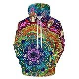 Mandala Rachel Rosenkoetterart 3D-Muster Print Hoodies Lässige Sweatshirt Trainingsanzug Pullover Hoodie LMS427 L