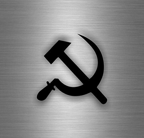 Akachafactory Selbstklebend Sticker Auto Hammer Sichel UDSSR Flagge USSR CCCP sovietique Hat (Cccp Hat)
