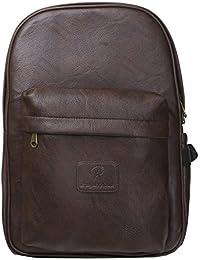 Pranjals House 15.6 Inch PU Leather Backpack Bag/Laptop Bag/Travel Bag/School Bag/College Bag