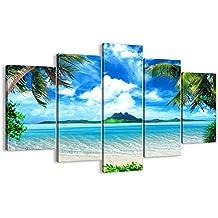 Cuadro sobre lienzo - 5 piezas - Impresión en lienzo - Ancho: 150cm, Altura: 100cm - Foto número 2528 - listo para colgar - en un marco - EA150x100-2528