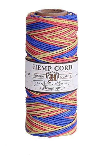 Hemptique Bobine de fil de chanvre Résistance moyenne 9 kg Multicolore/Rhythm