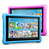 Fire HD 10 Kids Edition Tablet Variety Pack, 32 GB, (Blau/Pink) kindgerechte Hülle