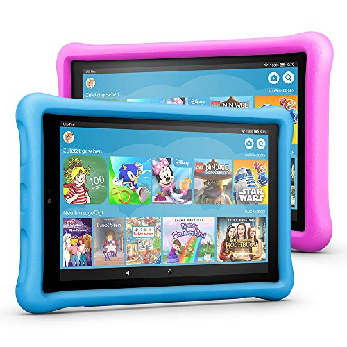 Fire HD 10 Kids Edition Tablet Variety Pack, 32 GB, (Blau/Pink) kindgerechte Hülle