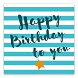 ARTEBENE Servietten 33x33 cm 'Happy Birthday to you' Türkis/Blau