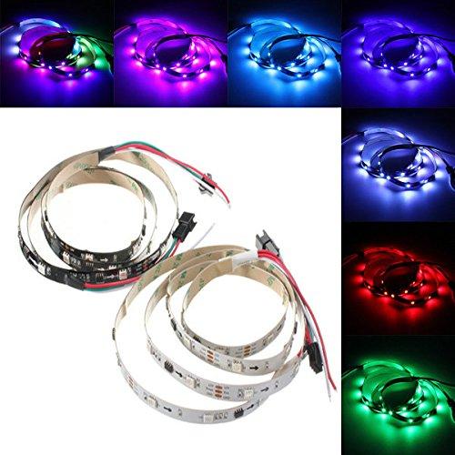 Global 1m 7.2w DC 12V ws2811 30 SMD 5050 LED rgb modifiable lumière de bande flexible individuellement adressable