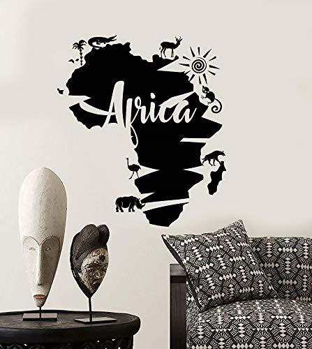 Supmsds Apliques Pared Vinilo Abstracto África Continente