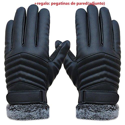 Malloom® Hombres antideslizantes térmicas deportes de invierno guantes piel Pantalla tactil Guantes