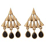 voril fashion Black color alloy dangle e...