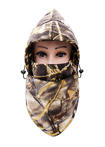 MAIBU Tarnung Windbreaker Neck Warm CS Balaclava verstellbar Unisex Winter Ski Radfahren Full Face Mask Hat (Camo (Face Zwei Frau Kostüm)