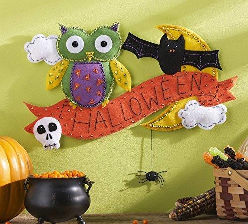 Bucilla Halloween Owl Felt Applique Wall Hanging Kit, 86691 19-1/2 by 15-Inch by Bucilla