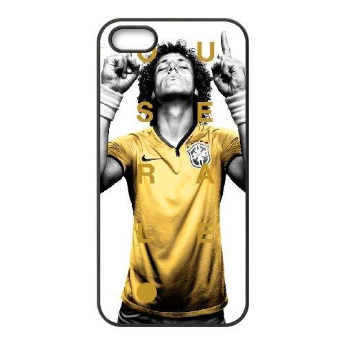 David Luiz coque iPhone 5 5S Housse téléphone Noir de couverture de cas coque EBDXJKNBO13102