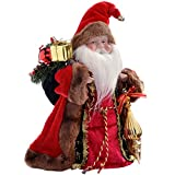 WeRChristmas Puntale per Albero di Natale a Forma di Babbo Natale, Rosso, 30 cm
