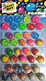 #3: Crazy Bouncy Jumping Balls Set - Smart Buy (36 Small Crazy Ball)- Multicolor