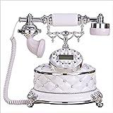 Telefon europäischen retro telefon Haushalt diamant festtelefon Retro vintage festnetz 25 * 23 * 24 cm (3 farben können ausgewählt werden) (Farbe : A)