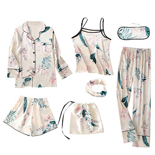 Pijama Mujer Ropa De Dormir 7Pcs Conjunto Camisa