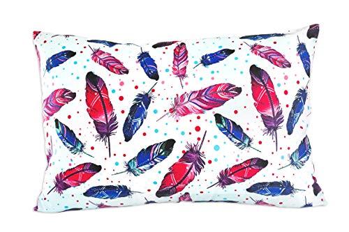 Kissenbezug 40 x 60 cm mit Reißverschluss, Kissen Bezug aus 100% Baumwolle, hergestellt in Europa...