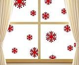 Noël Stickers Muraux,LUCKYCAT Amovibles Mur De Fenêtres 2019 En Vinyle De La Autocollants Maison Flocon de neige de salle de séjour de fond de chambre à coucher
