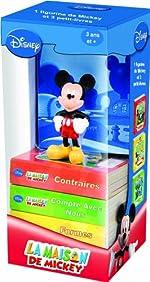 La Maison de Mickey - Une figurine et trois livres pour apprendre les formes, les contraires et les nombres de Pi Kids