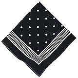 Betz Nickituch Bandana Richtfesttuch Halstuch klassisches Punktemuster Größe 55 x 55 cm 100% Baumwolle Farbe: schwarzblau