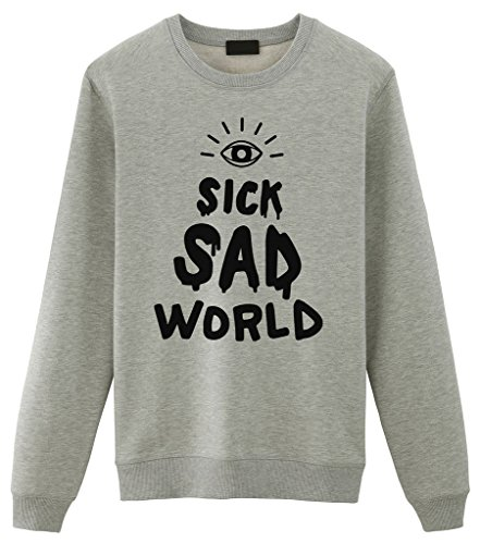 ia Sick Sad World Unisex Sweater X-Large Grey (Daria Halloween)